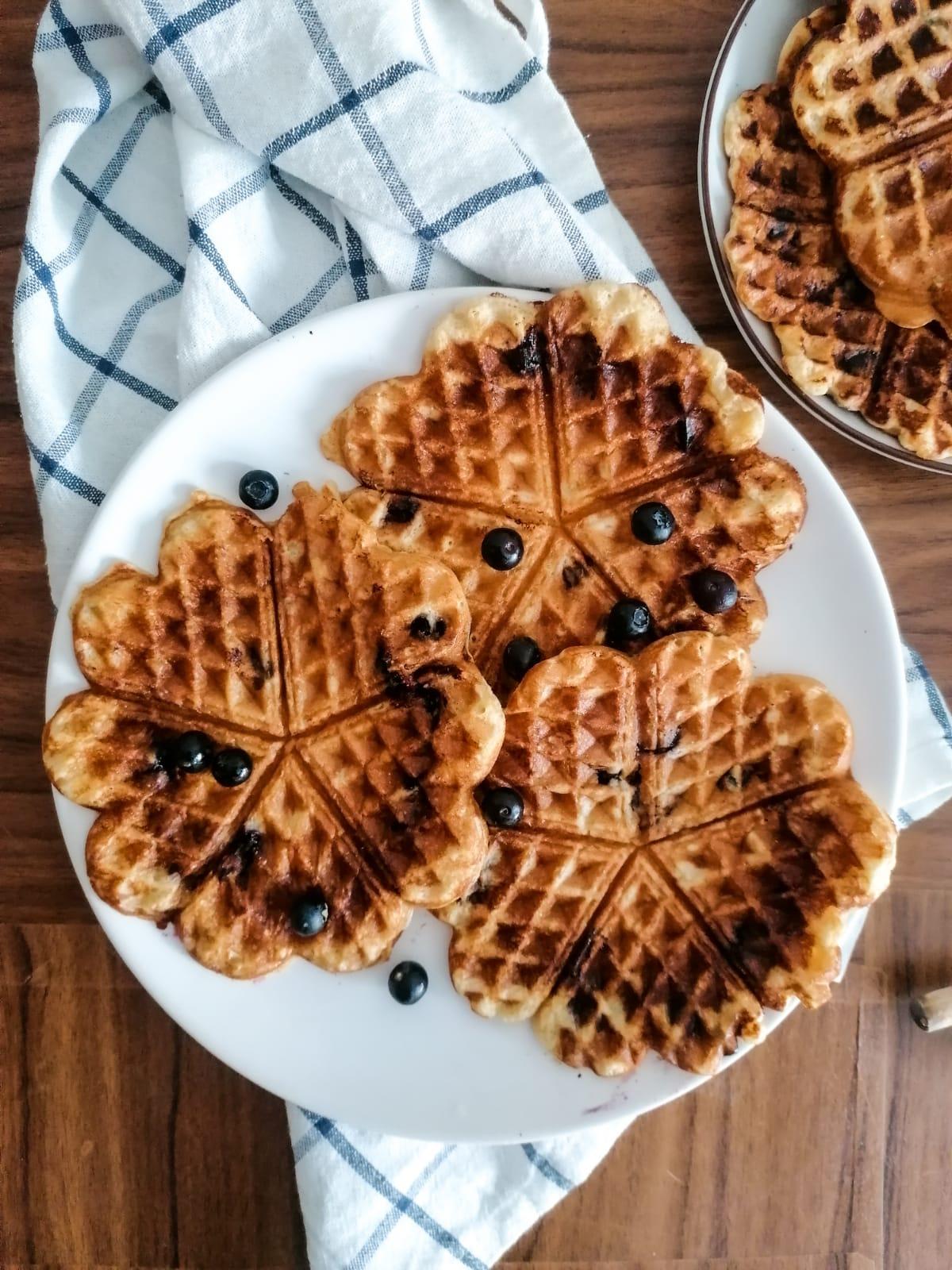 Easy Blueberries Cassava Pancakes